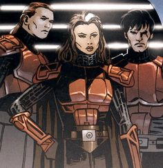 Female Imperial Knight from Star Wars.