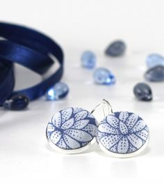 Drop Earrings Water Lily Dangle Earrings Blue Flowers Silver Toned Floral Bridal Leverback Earrings Fabric Covered Button Wedding Jewelry drop earrings blue earrings flowers earrings dangle earrings leverback earrings romantic drops silver toned jewelry shabby water lily blue fabric earrings covered button gift for her cottage chic wedding floral bride jewelry 14.00 USD #goriani