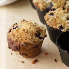 Muffin recipes include blueberry muffins with crumb topping and chocolate chip and banana muffins. Plus more breakfast muffin recipes. Blueberry Recipes, Fruit Recipes, Wine Recipes, Cooking Recipes, Tea Recipes, Best Brunch Recipes, Favorite Recipes, Breakfast Bake, Breakfast Muffins