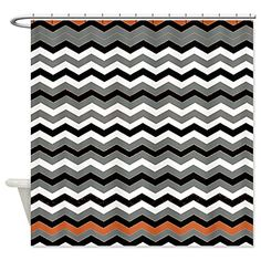 orange chevron shower curtain. Best Orange Chevron Shower Curtain  Stuff Orangechevronshowercurtainglam