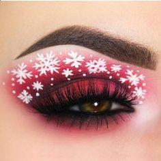 Creative And Gorgeous Christmas Makeup Ideas For The Big Holiday; Christmas Makeup Looks; Holiday Makeup Looks; Red Eye Makeup, Colorful Eye Makeup, Makeup For Green Eyes, Cute Makeup, Eyeshadow Makeup, Awesome Makeup, Eyeliner, Exotic Makeup, Gorgeous Makeup