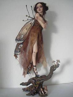 SHADOWSCULPT OOAK MOTH fairy fantasy lifelike art by shadowsculpt