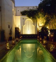 Moroccan pool. Great for romantic late night swims :-)