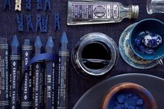 Instruments of blue...