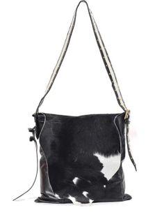 Lilifi Black and Cream Cow Hide Messenger Bag LOVE!