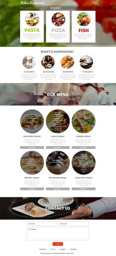 Nouvelle maquette pour un restaurant italien ! #siteweb #restaurant