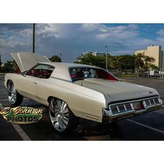 @yungjefe3 73 impala on @forgiato @wheels @shoplyfe #donk #chevy #impala #hardtopgang #futuristic ...