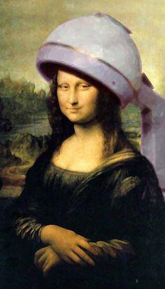 Mona under the dryer