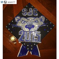 We might be biased, but this is the best graduation cap we've seen. Congrats to the entire #SJCNY Class of 2015! #OnceABearAlwaysABear #SJCNYCaps #SJCNYGrad  #BearWitnessSJC #Repost @srom17 ・・・ Never touching another rhinestone again