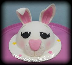 Dulce Silvita: Tarta Conejito de Pascua - Easter Fondant Cake - Sweet bunny