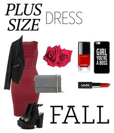 """""""Fall // plus size dress"""" by nabookitty ❤ liked on Polyvore featuring Dorothy Perkins, Zizzi, DKNY and Avon"""