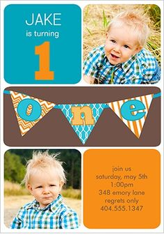 1st Birthday card for twin boys