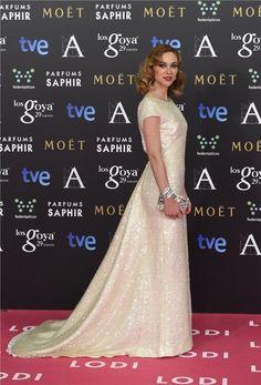 Marta Hazas con joyas de Suárez en los Premios Goya 2015