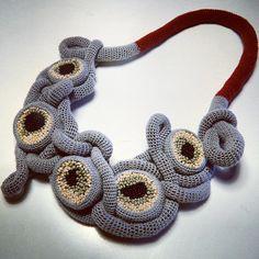 Lidia Puica - crochet art necklace
