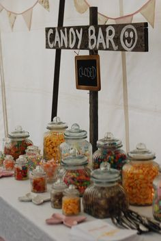 with a big closed sign til the end of the reception… then flipped over to OPEN and lids off!!.kinda cute and makes it easy to set up first but not have people digging in right away!!