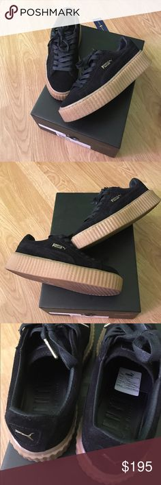 Fenty Rihanna Creepers Black Gum size 6 Authentic Rihanna Fenty x Puma creepers size 6. Purchased from Bloomingdale's comes  with everything. Puma Shoes Sneakers