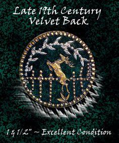 Image Copyright RC Larner ~ Velvet Under Brass Button ~ R C Larner Buttons at eBay & Etsy          http://stores.ebay.com/RC-LARNER-BUTTONS