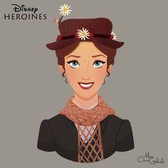 disney-ilustrações-retratos-heroínas-marypoppins