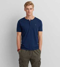 Shop casual Men's T Shirts at American Eagle. Find crew neck t shirts, henley t shirts, graphic tees, v neck t shirts, drop shoulder t shirts & more in new colors and styles. American Eagle Men, Mens Outfitters, V Neck T Shirt, Lounge Wear, American Eagle Outfitters, Men Casual, Clothes For Women, Aeo, Mens Tops