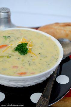 Broccoli & Cheese Potato Soup