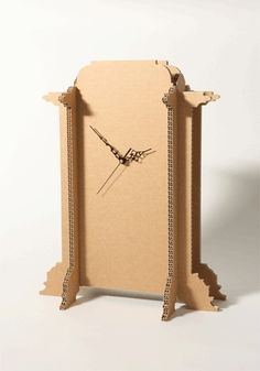 Cardboard clock by jana