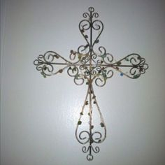 Crosses by Selkie~gal Wooden Crosses, Wall Crosses, Old Rugged Cross, Religious Tattoos, Tatting Lace, Crucifix, Creative Crafts, Wall Decor, Symbols
