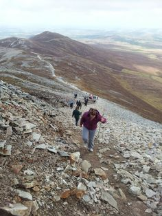 Climbing Croagh Patrick. Making it to the top  was a fantastic accomplishment for me.