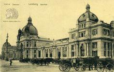 Старая фотография вокзала во Львове. Lemberg — Bahnhof