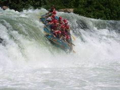 White water rafting down the Nile River in Uganda, Africa. Awesome. Awesome. Awesome!