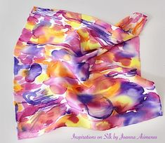 "Joanna Asimenos on Instagram: ""Square silk pocket scarf 34X34cm. Hand hemmed. Abstract painting. For pocket or bag decoration.  #silk #silkscarf #handmade #hanpainted…"" Instagram Square, Tie Dye Skirt, Hand Painted, Pocket, Silk, Abstract, Decoration, Handmade, Bags"