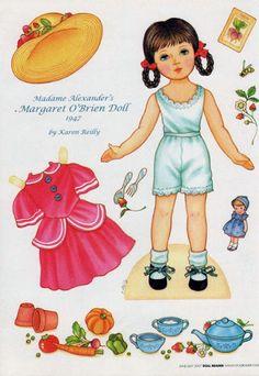 Margaret O'Brien Doll - Debbie - Álbuns da web do Picasa Doll Clothes Patterns, Clothing Patterns, Doll Patterns, Paper Toys, Paper Crafts, Paper Dolls Printable, Label Paper, Vintage Paper Dolls, Madame Alexander