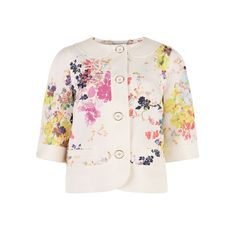 Summer bloom print jacket - ZOHE by Ted Baker ($195) ❤ liked on Polyvore
