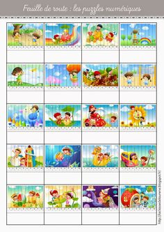 feuille de route :Puzzles numériques Preschool Activity Books, Kids Learning Activities, Puzzles, Abc School, Felt Stories, Daily Math, Montessori Math, Kindergarten, Special Education