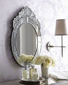 Oval Venetian-Style Mirror at Horchow.