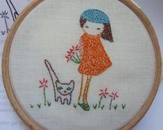 hula and skip embroidery pattern pdf von LiliPopo auf Etsy