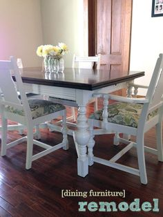 the copper coconut: Dining Table and Chairs Redo