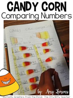 Love the idea of using candy corn to compare numbers.  Greater than/less than.  Festive and engaging!  :)  Comparing Numbers with Candy Corn FREEBIE.