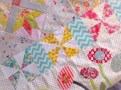 Green Tea And Sweet Beans Quilt by Marina Forgiarini (Pattern designed by Jen Kingwell)