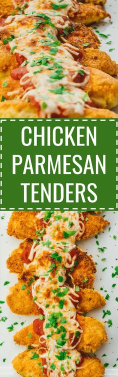 These healthy chicken parmesan tenders are easy to make using low carb ingredients. baked / recipe / easy / healthy / best / skinny / oven / sides / sauce / quick / classic / homemade / simple / meal / italian / how to make / skillet / fried / crispy / for two / without breadcrumbs / stove top / crusted / one pan / breaded / unbreaded / food network / for a crowd / keto / diet / atkins / meals / recipes / easy / dinner / lunch / foods / healthy / gluten free #chicken #healthy #dinner