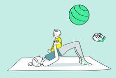 Une séance de gym avec bébé! Petit tuto pour un moment de complicité. #bébé #activitébébé