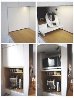 Larder Cupboard, Kitchen Cupboard Doors, Küchen Design, House Design, Interior Design, New Kitchen, Space Saving, Countertops, Layout