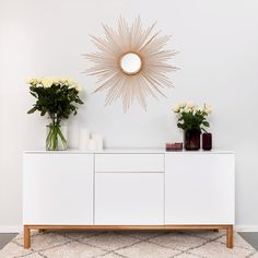 Interior Home Design Trends For 2020 - New ideas Room Decor Bedroom, Living Room Decor, Mirror Bedroom, Credenza Decor, Dining Room Console, Modern Buffet, 3d Home, Home And Living, Home Furniture