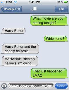 HP autocorrect lol