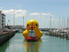 Auckland, New Zealand – 2011  12 x 14 x 16 meters (39 x 46 x 52 feet)  Inflatable, pontoon and generator