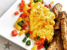 grandma's scrambled eggs – gluten free recipe – All Recipes Food Cooking Network Cooking Network, Scrambled Eggs, Gluten Free Recipes, Allrecipes, Cornbread, Cooking Recipes, Fruit, Breakfast, Healthy