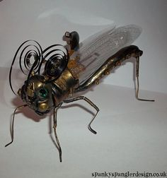 Upcycled/Recycled Steampunk Insect by spankyspanglerdesign on Etsy