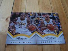 David West George Hill 2013 14 Panini Prestige Indiana Pacers 2 Card Lot Mint   eBay