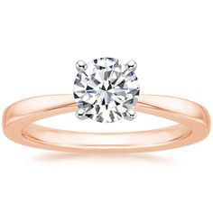 14K Rose Gold Petite Taper Ring from Brilliant Earth