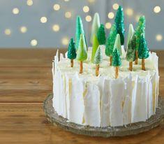 Como fazer um bolo de Natal da floresta do gelo #Baking #ChristmasCake