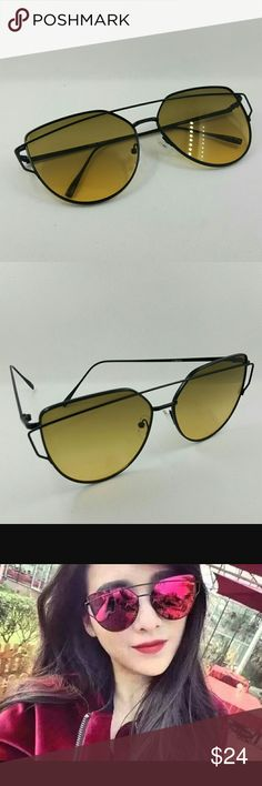 048af96da8a CAT STYLE WIRE MIRROR FASHION SUNGLASSES CAT STYLE WIRE MIRROR FASHION  SUNGLASSES gentle monster style 4159COL Accessories Sunglasses